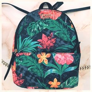 victoria's secret tropical print mini backpack